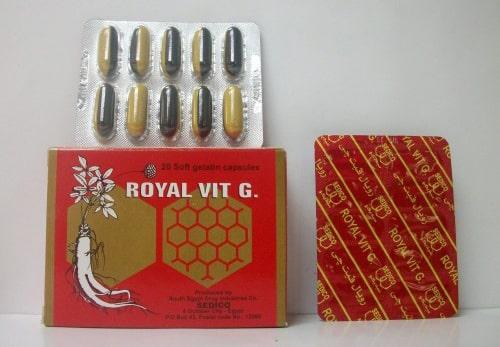 دواء رويال فيت جي, اضرار دواء رويال فيت جي, اعراض دواء رويال فيت جي, استخدامات دواء رويال فيت جي